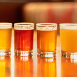 Full Frame Beer Background Flight With Variety Of Colors